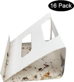 Plai 16 trampas para araña, Insectos y Hormigas de Escarabajo, para cucarachas, Listas para Usar, seguras para niños y Mascotas, 8 Hojas x 2 trampas Cada una, Total 16 trampas