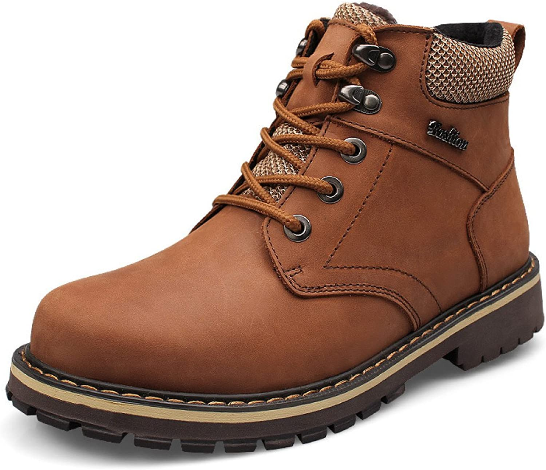 Winter Men's Boots Men's shoes Plus Velvet Leather Boots Warm Boots Wear-resistant Martin Boots