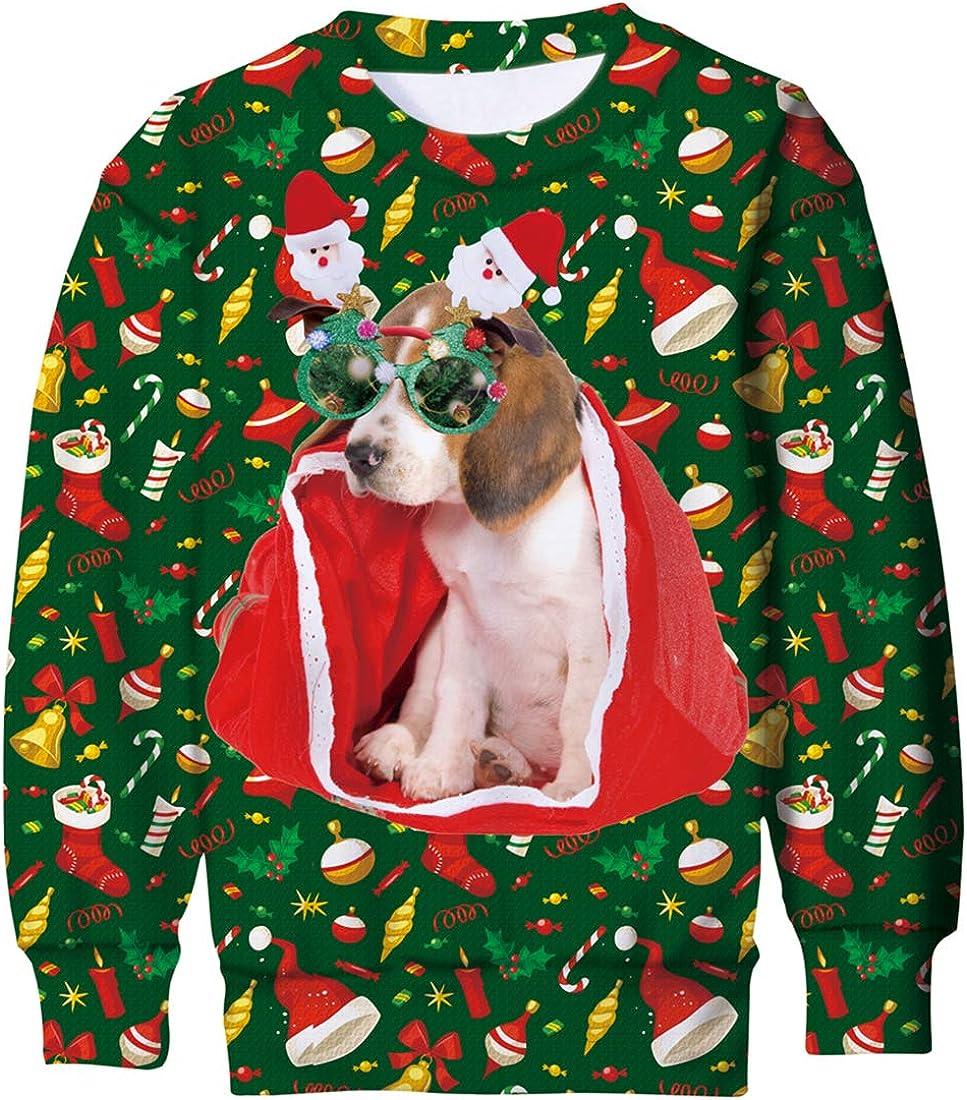 Goodstoworld Weihnachtspullover 3D Kinder M/ädchen Jungen Schrecklich Lustige Weihnachtspulli Christmas Sweatshirt Pullover 6-16 Jahre