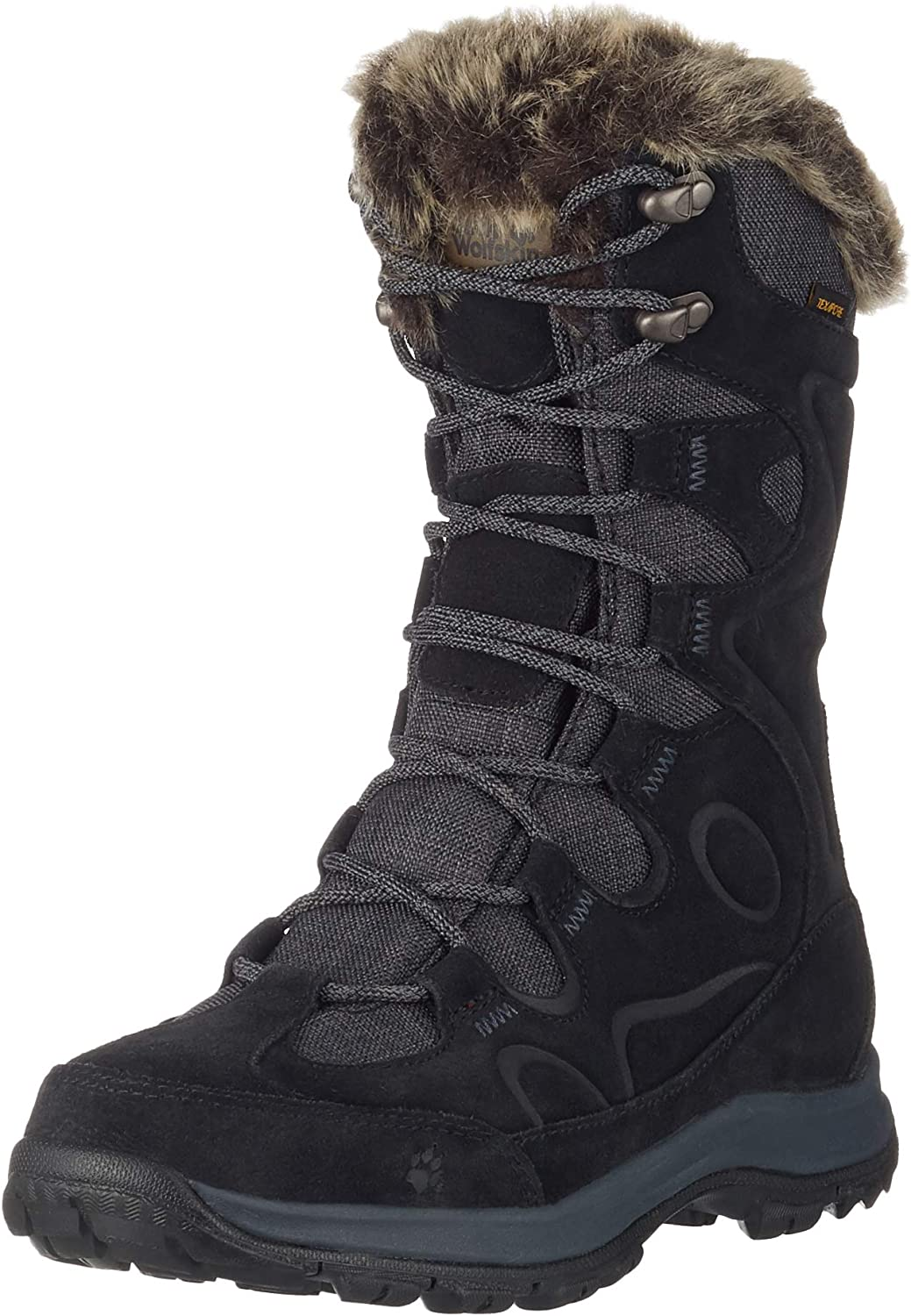 Jack Wolfskin Womens Glacier Bay Texapore High W Women's Waterproof -22°f Insulated Snow Casual Boot Snow Boot