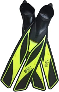 SIER FINS | Soft Silicone Full-Foot with Efficient Thrust Swim Fins | Secured Tight Fitting Fins Without Any Weak Back Straps
