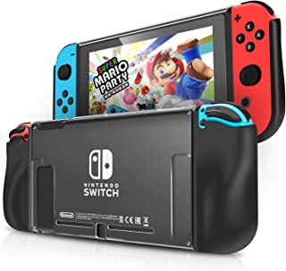 KINGTOP Handheld Grip Case for Nintendo Switch Protective Back Cover for Nintendo Switch Console in Handheld Gamepad Mode Heat Dissipation and Shockproof