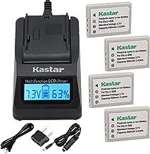 Kastar Fast Charger and Battery 4-Pack for Olympus Li-80B Li-80C TRAVELER DC-5080 DC-7080 Slimline X4 Slimline X5 Slimline X6 Slimline XT Super Slim XS7, VIVITAR ViviCam 3830 ViviCam 3945S ViviCam 534