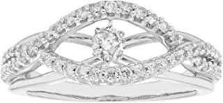 14K White Gold Dancing Diamond Engagement Ring (1/2 cttw, I Color, I1 Clarity)