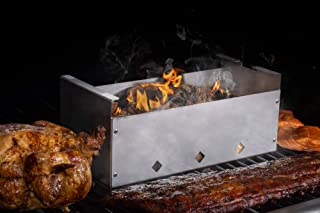 DKS Smoker Cooker Box for Grill | Turn Any BBQ Grill Into A Smoker | No Propane or Charcoal Needed | Provides All The Heat and Smoke to Cook Any Food (432 cu inches)