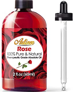 2oz - Artizen Rose Essential Oil (Premium Quality - UNDILUTED) Therapeutic Grade - Huge 2 Ounce Bottle - Perfect for Aroma...