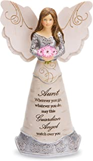 "Pavilion Gift Company Elements Aunt Guardian Angel Figurine, 6"", Purple"