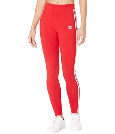 adidas Originals 3 Stripes Tights (Scarlet 2) Women