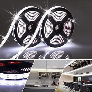 LED Light Strip Battery Operated 6.56FT Flexible Cool White Cabinet Light 2 Pack