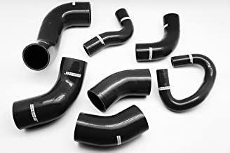 Autobahn88 Intercooler Silicone Hose Kit fits for 2001-2006 Mitsubishi Lancer Evolution EVO 7 8 9 CT9A 4G63 (Black -with Clamp Set)