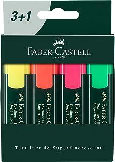 Faber-Castell 10115444 Gratuite Lot de 4 Marqueurs Fluorescents