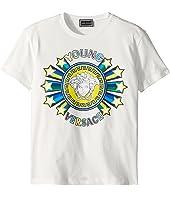 Versace Kids - Short Sleeve Medusa Logo Graphic Tee (Big Kids)
