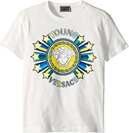 Versace Kids - Short Sleeve Medusa Logo Graphic Tee (Big Kids)