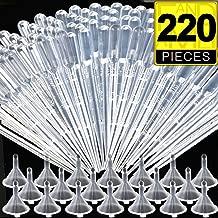 FANDAMEI 200Pcs 3ML Plastic Transfer Pipettes Disposable Eye Dropper & 20Pcs Mini Plastic Transparent Funnels for Essential Oils,Science Laboratory & Make Up Tools