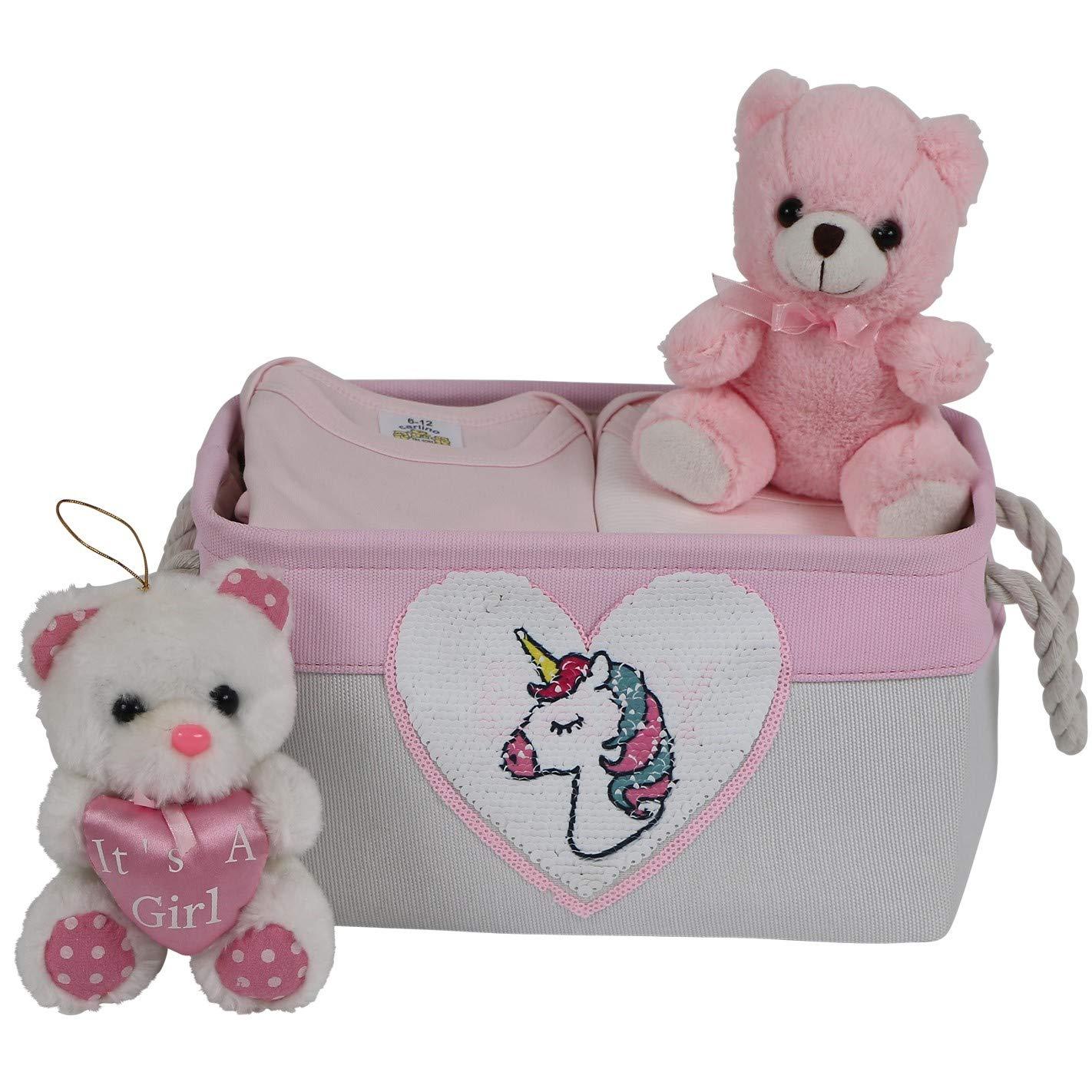 Storage Basket for Nursery Organizer Girl Canvas Bi Fabric Baby Nippon regular agency Houston Mall