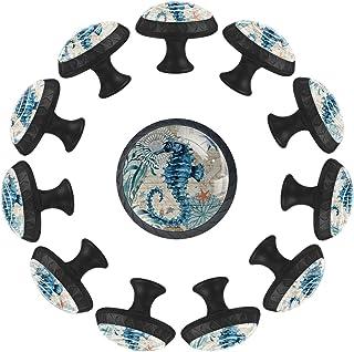 Boutons D'armoire 12 Pcs Poignés Poignée De Champignons Porte Poignées avec Vis pour Cabinet Tiroir Cuisine,Merhorse bleu ...