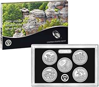 2016 S US SILVER Proof Set National Parks Quarters Proof