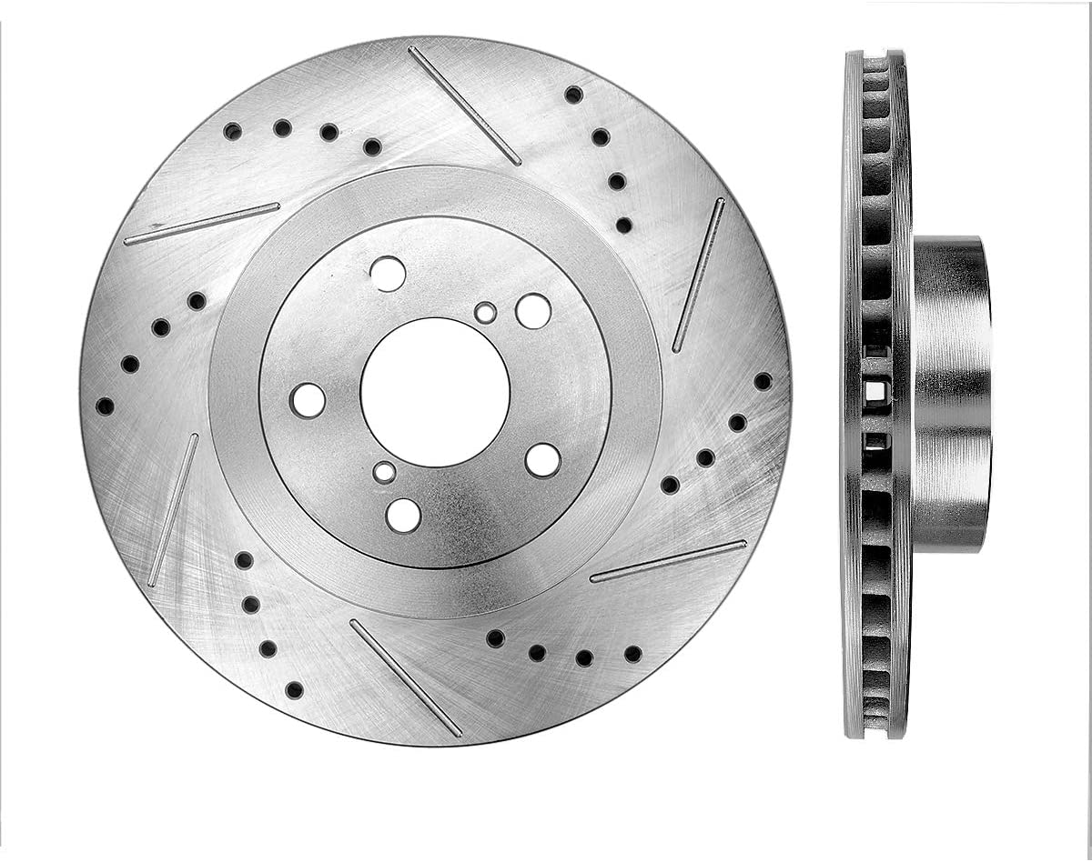 Callahan CDS06870 FRONT 294mm Virginia Beach Mall Drilled Lug 2 Rotors Slotted 5 New product!!