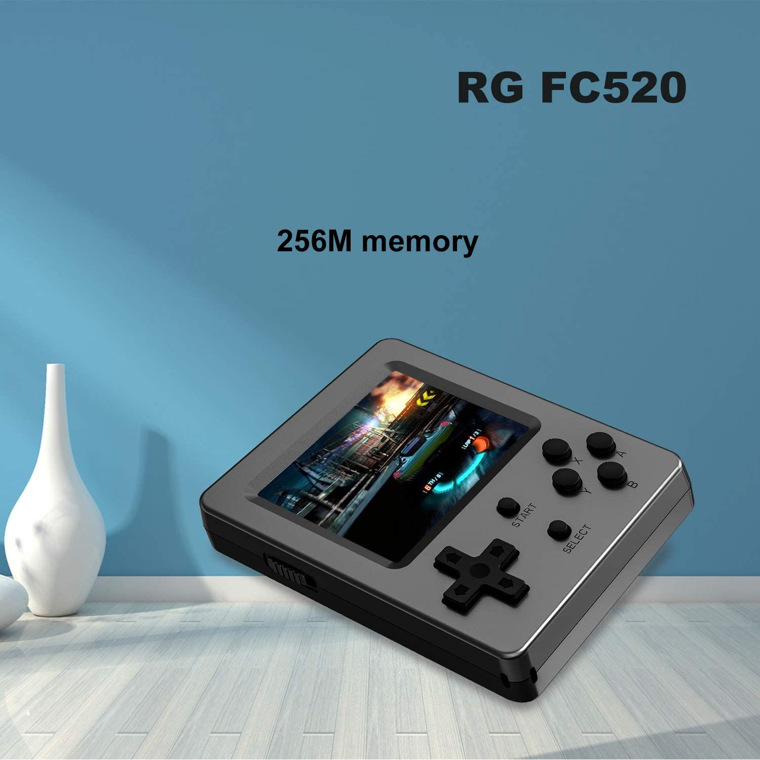 HAIHUANG Handheld Game Console,RG FC520 Retro Game Console Free with 520 Classic Games,Portable Game Console 3 Inch Screen Supports TV Output Good Present for Kids Boy 020