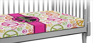 Peace Sign Crib Fitted Sheet (Personalized)
