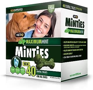 VetIQ Minties Dental Dog Treats, Value 2 Pack ( 80 Count Total )