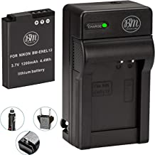 BM Premium EN-EL12 Battery and Charger for Nikon Coolpix A1000 B600 W300 A900 AW100 AW110 AW120 AW130 S6300 S8100 S8200 S9050 S9200 S9300 S9400 S9500 S9700 S9900 P310 P330 P340 KeyMission 170, 360