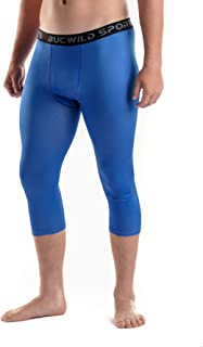 Bucwild Sports 3/4 Basketball Compression Pants Tights for Youth Boys & Men