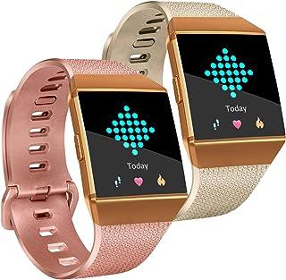 Tobfit Fitbit Ionicバンド ソフトTPUスポーツアームリストバンド アクセサリー レディース メンズ