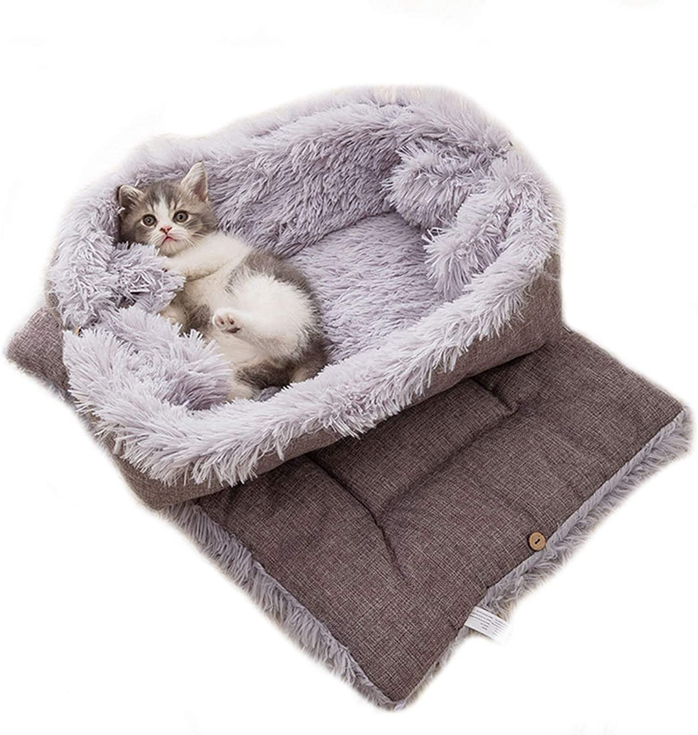 New products world's highest quality popular Cat Bed Winter Warm Nest Sleeping OFFicial mail order Foldable Bla Soft Pet