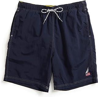 "Nautica Men's 8"" American Flag Logo J-Class Swim Shorts"