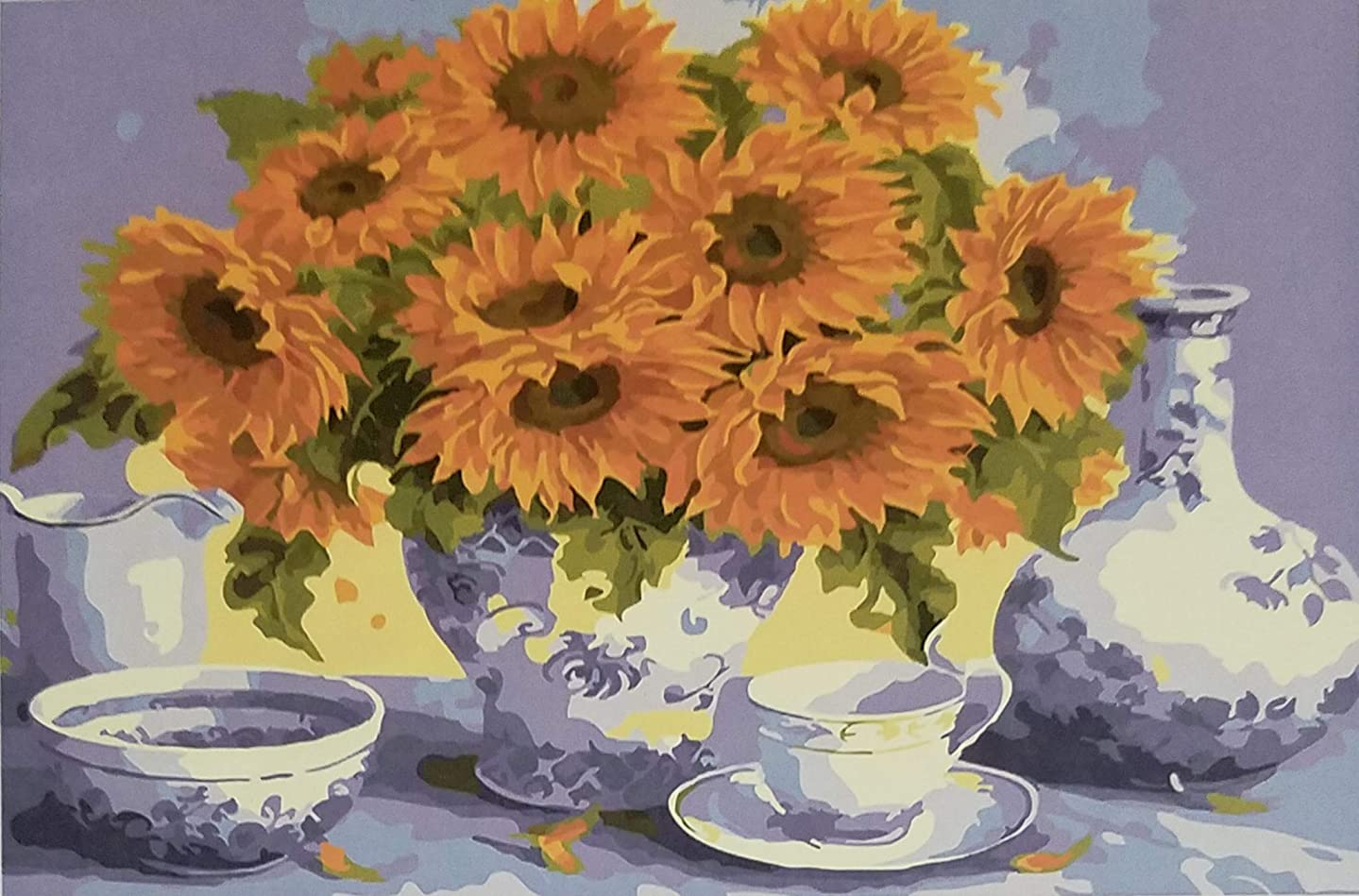 Imagine Micromosaics 5D DIY Full Square Drill 40 x 50 cm Mounted Diamond Painting Sunflowers