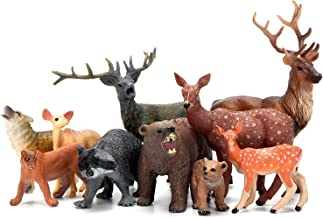 Woodland Animals Figurines Toys, 10 Piece Realistic Plastic Wild Forest Animals Figures..