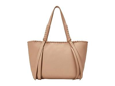 AllSaints Kepi Small East/West Tote (Nude Pink) Handbags