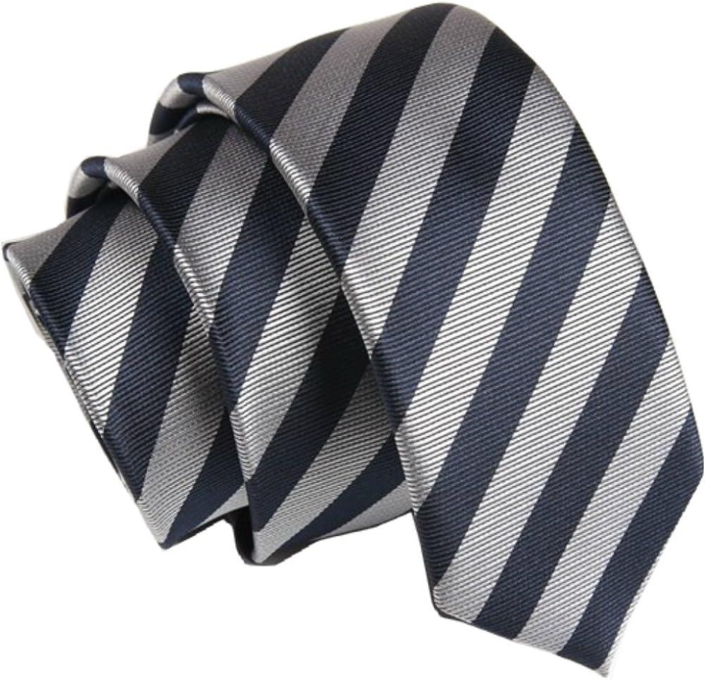D.berite Men's Tie Neckties Narrow Skinny Width 1.97