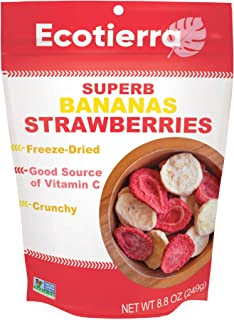EcoTierra Superb Freeze-Dried Bananas Strawberries