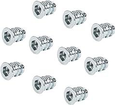 Gedotec Inschroefmoer metalen schroefdraadinzetstuk bevestigen inpersmoer bevestiging | M4 x 10 mm | inschroefmoffen met a...