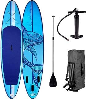 Pack Paddle Gonflable Stand Up Board Planche de surf Kit 320x76x15CM Bleu