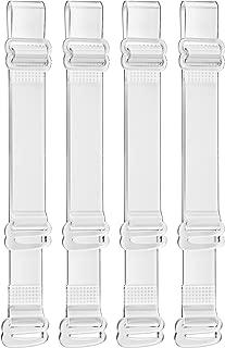 Invisible Clear Bra Strap Non-Slip Adjustable Bra Strap Soft 2 Pair Transparent Shoulder Strap