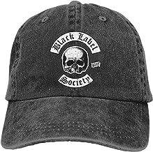 Vicnen Black Label Society Classic Skull Logo Unisex Baseball Cap for All Seasons Adjustable Grid Sports Hat Black