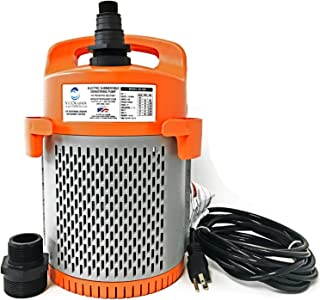 Site Drainer SD 300, Submersible Dewatering and Sump Pump, Never Clog, 1/2 Horsepower, 115 Volts, 3/4 to 2 Inch Discharge, Internal Float for Automatic Operation