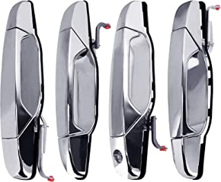 Replacement Exterior Door Handle Chrome Set of 4 - Fits 2007-2014 Chevy Silverado, Tahoe, Cadillac Escalade, GMC Sierra, Yukon, 07-13 Avalanche - Replaces 15915659, 22738721, 22738722, 15915660