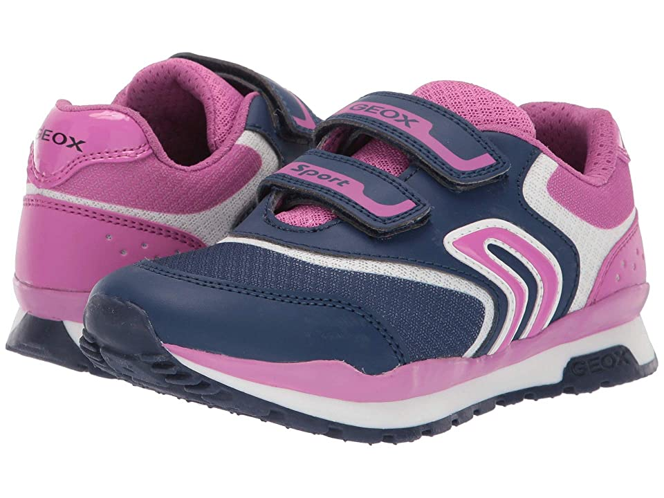 Geox Kids Pavel Girl 3 (Little Kid/Big Kid) (Navy/Fuchsia) Girl