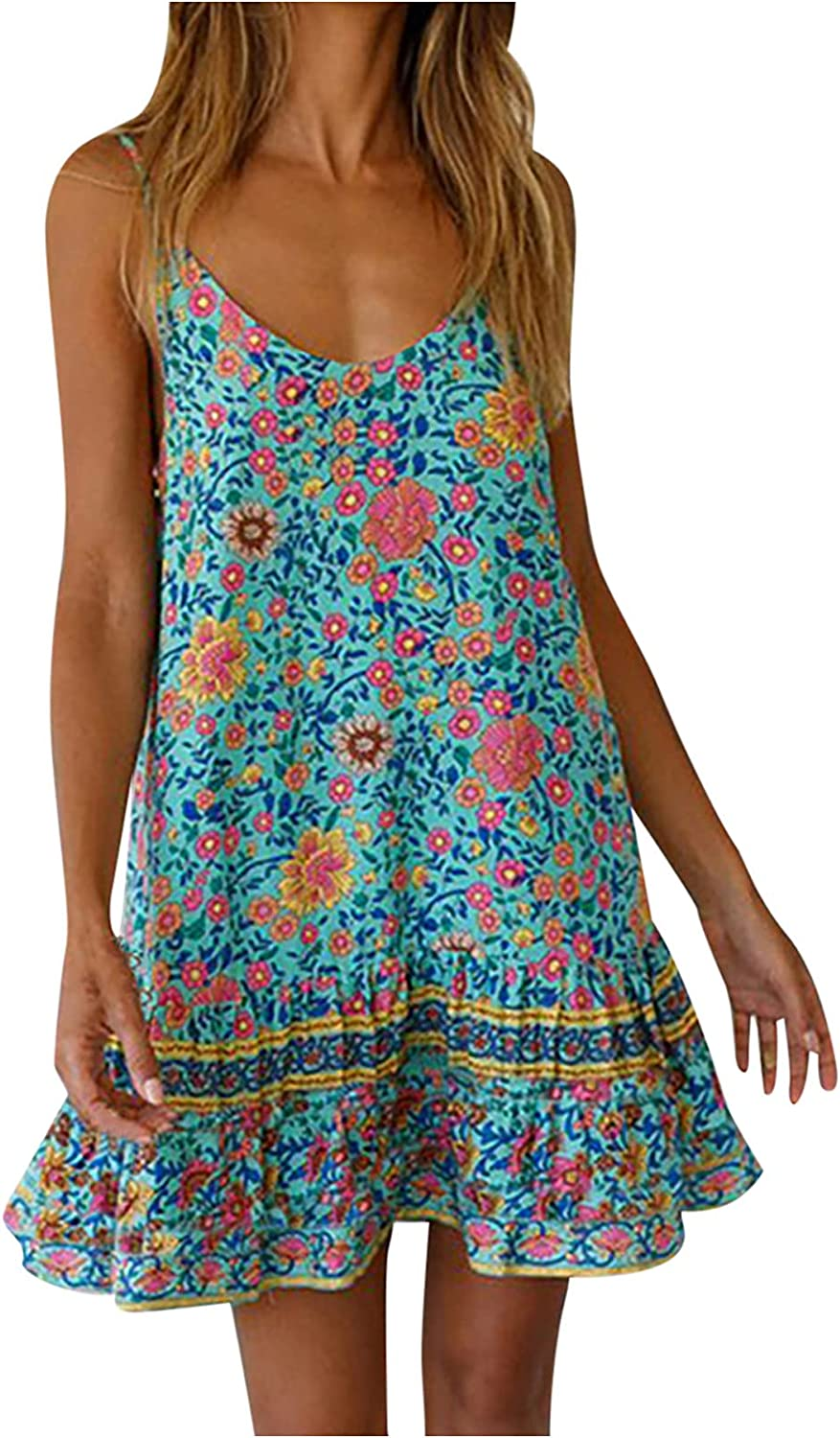 Yanvan Summer Dresses for Store Discount is also underway Women Short F Boho Party Sleeve Beach