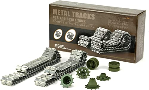 Aufrüstungssatz für Panzer  Metallkettenset für Heng Long Leopard2 A6