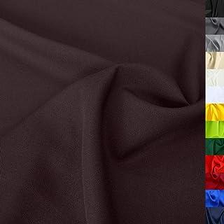 TOLKO Modestoff   Dekostoff universal Stoff zum Nähen Dekorieren   Blickdicht, knitterarm   150cm breit Meterware Bekleidungsstoffe Dekostoffe Vorhangstoffe Baumwollstoffe Basteln Patchwork Dunkel Braun