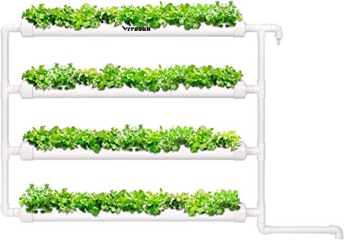 wholesale VIVOSUN Wall-Mounted Hydroponic Grow lowest Kit, 1 Layers 36 Plant Sites 4 PVC Pipes Hydroponics Growing System with Water Pump, Pump Timer, Nest Basket and Sponge for online Leafy Vegetables online