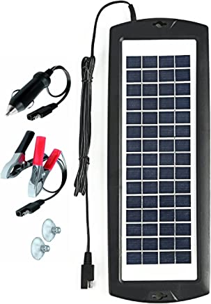 Sunway Solar Battery Trickle Charger & Car Battery Maintainer 12V Solar Panel Power Kit Portable Backup for Car Automotive RV Marine Boat Truck Trailer Tractor Powersports Snowmobile Farm Equipment