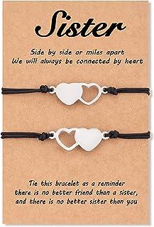 طوارس 2/3/4 قطع سوار شقيق مطابق القلب أساور مجوهرات هدايا للأخت والنساء التوائم والبنات