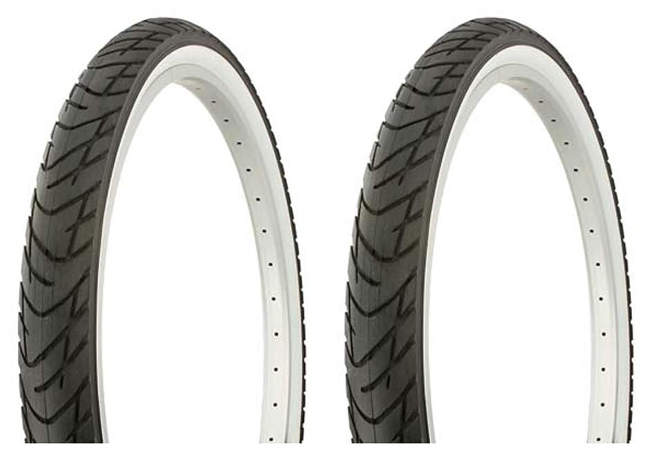 すり反響するホテルLowrider タイヤセット 2タイヤ 2タイヤ デュロ 26インチ x 2.125インチ ブラック/ホワイト サイドウォール DB-1012 自転車タイヤ 自転車タイヤ ビーチクルーザー バイクタイヤ クルーザーバイクタイヤ
