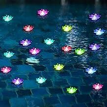 Floating Pool Lights,Battery Powered Floating Flowers,Pond Decor,Floating Pool Flower..